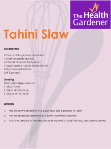 Tahini slaw