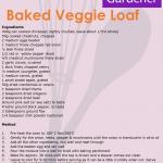 Baked Veggie Loaf