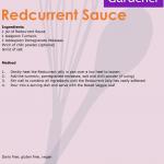 Redcurrant Sauce